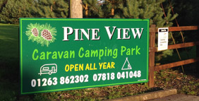 Pineview Camping and Caravan Park entrance